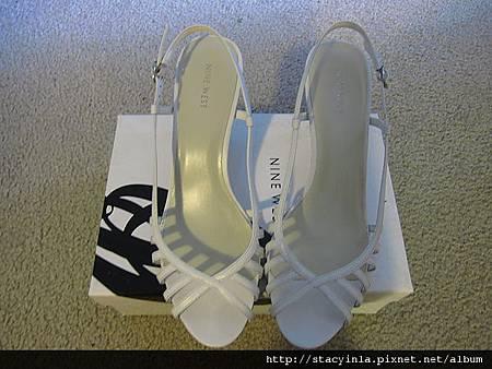 鞋子 6 Nine West 白色編織春夏涼鞋 $800 (1)