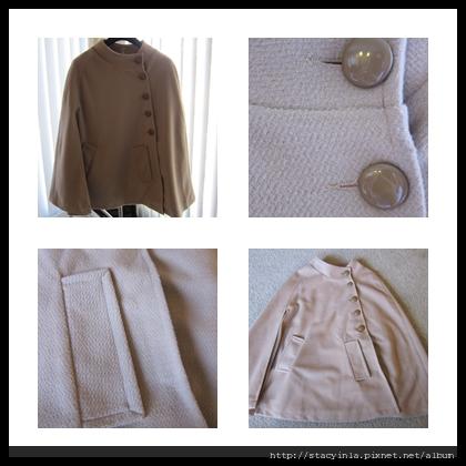 外套 1  側排扣口袋斗蓬大衣 - 奶茶色 $1000 (1).jpg