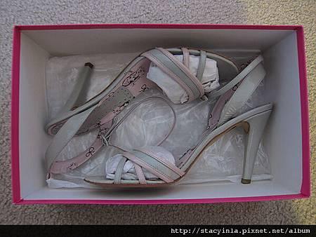 鞋子 2 Fornarina 暖灰 x 嫩粉 春夏涼鞋 $800 (3)