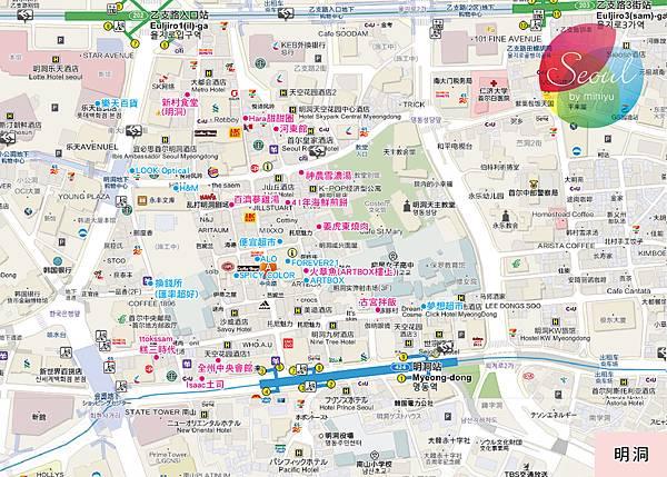 首爾地圖(2013.11更新)_明洞