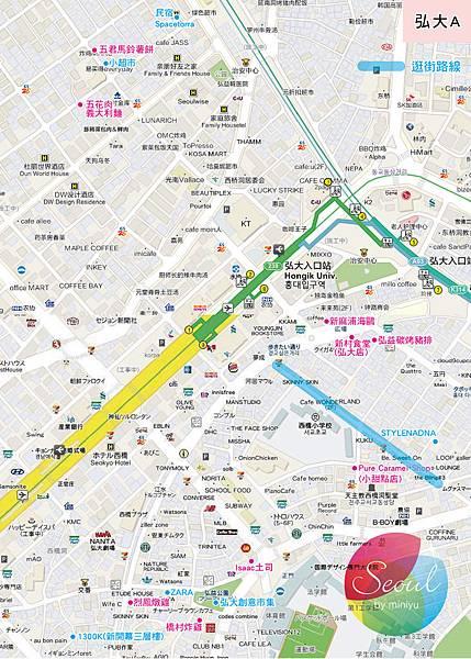 首爾地圖(2013.11更新)_弘大A