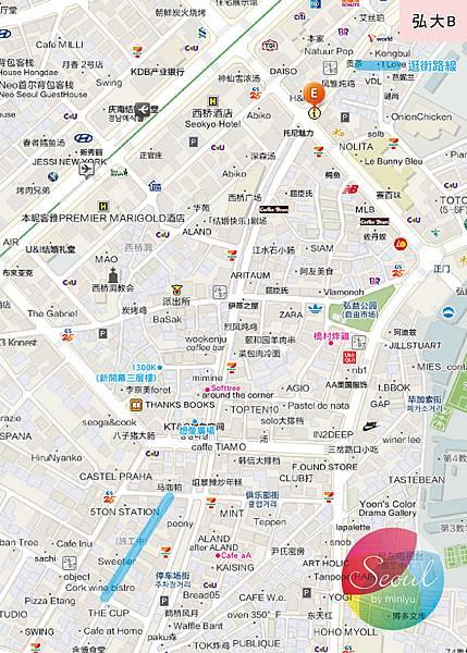 首爾地圖(2013.11更新)_弘大B