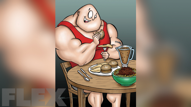 bodybuilder-eating-burger