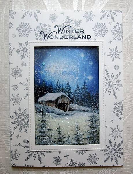 聖誕卡-下雪了!
