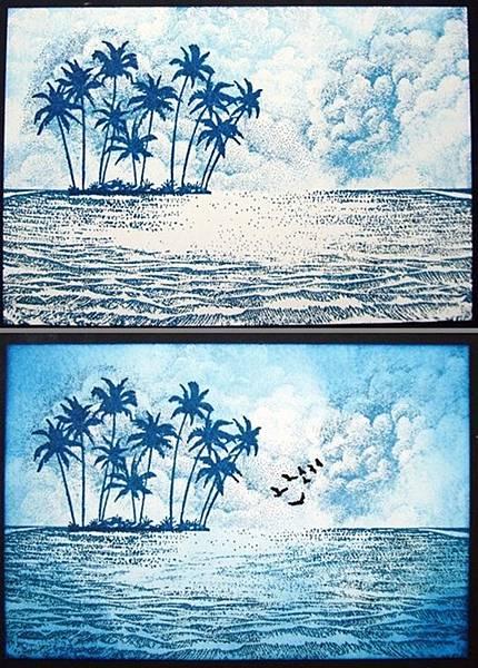 海浪- 沙漏式搖搖卡