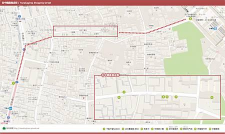 map-谷中銀座