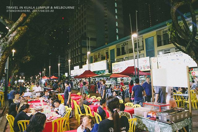 旅遊│吉隆坡亞羅街夜市, 黃亞華小吃店, 烤雞翅+沙嗲好吃!