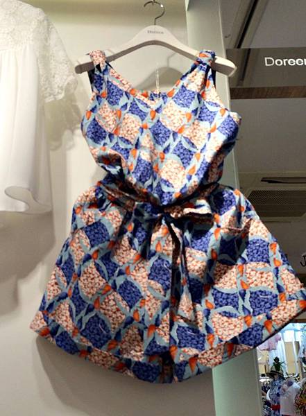 J10 渡假印花連身褲(藍、黃),NT$1880