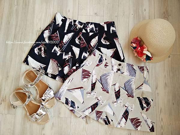 J13 帆船高腰短褲(白、深藍),NT$1460