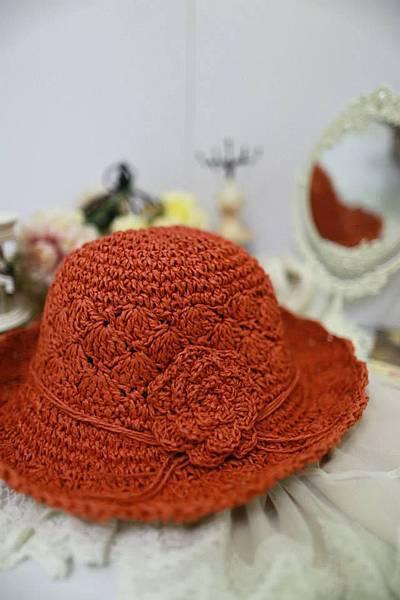 J21 夏日浪花編織帽 (橘色),NT$550