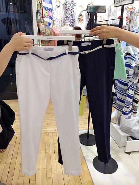 J19混棉麻打折褲(白、深藍),NT$1680
