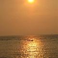 夕陽與扁舟