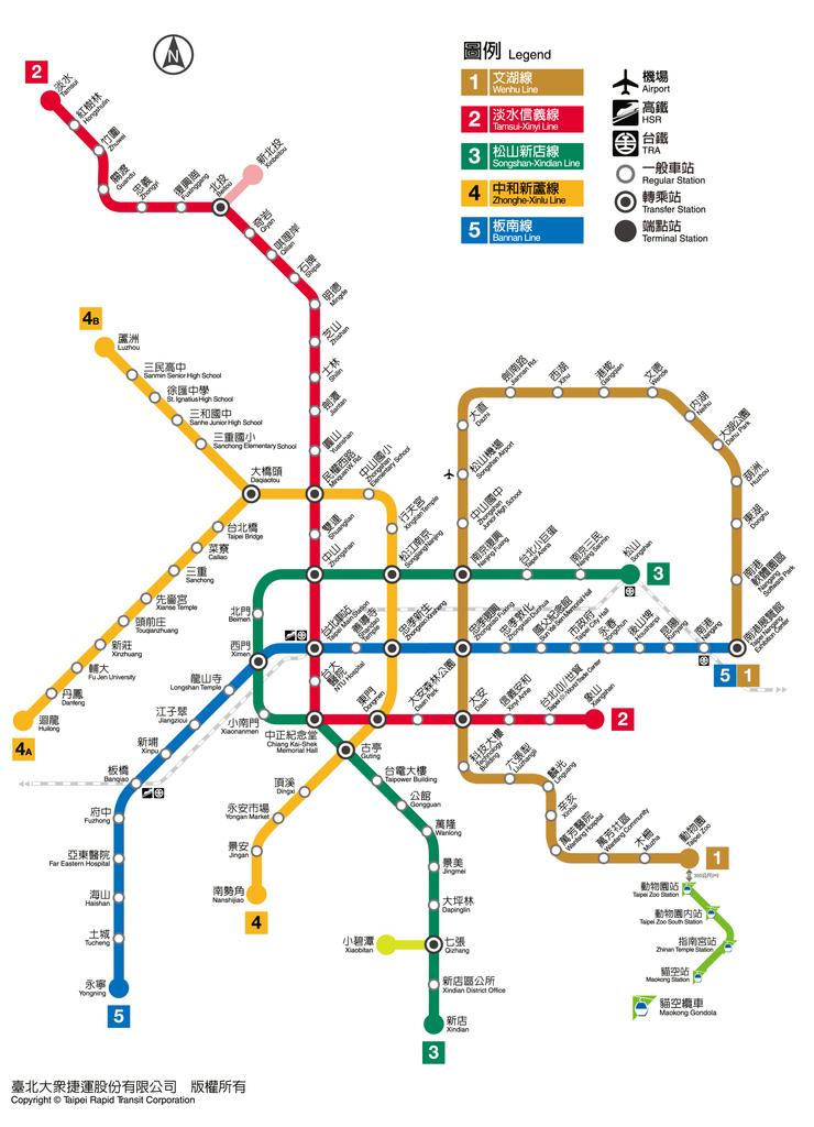 台北捷運路線圖_最正確