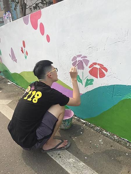 彩繪外牆— 在芭里國民小學