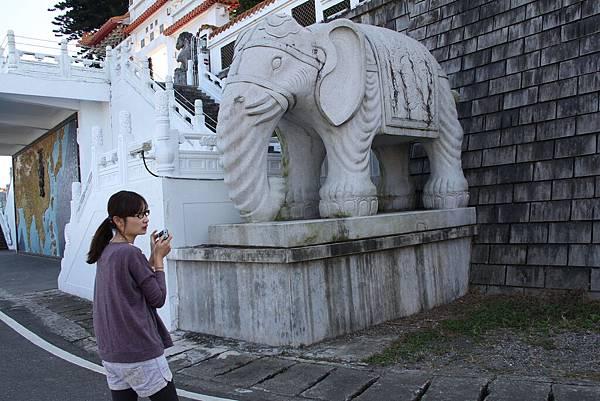 """我那時候在跟J先生說  """"你看  這個大象的腳指頭好多喔"""""""