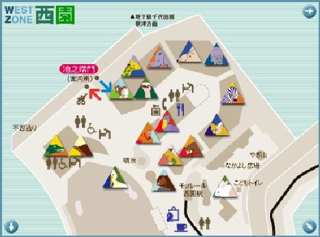 上野西園上半地圖
