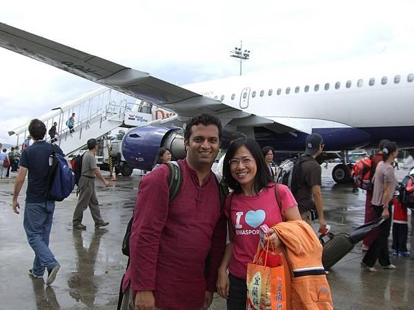 不丹機場salina和蒲撒德.JPG