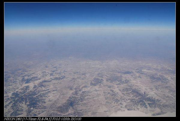 飛往哈爾濱的上空