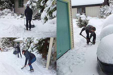 snow cleaning