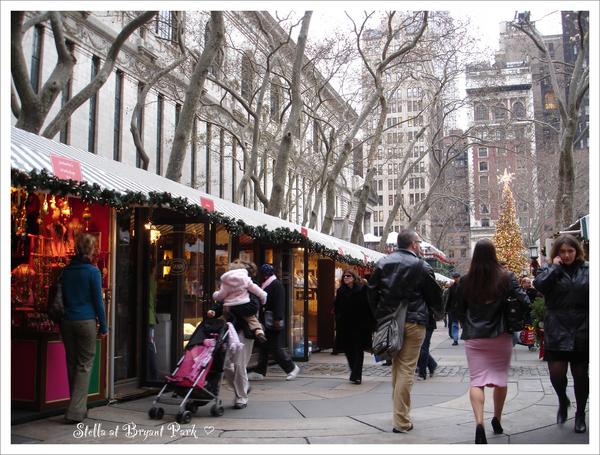 Bryant Park聖誕商店街
