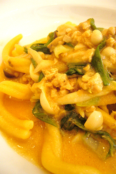 手工義大利麵燴台灣珍珠玉米雞