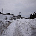 下午就開始下大雪了, 路就變成這樣 :~