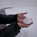第一次玩雪 XD