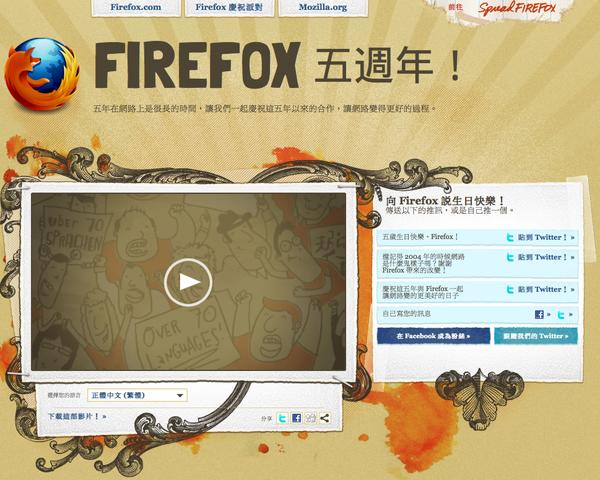 firefox 5th birthday