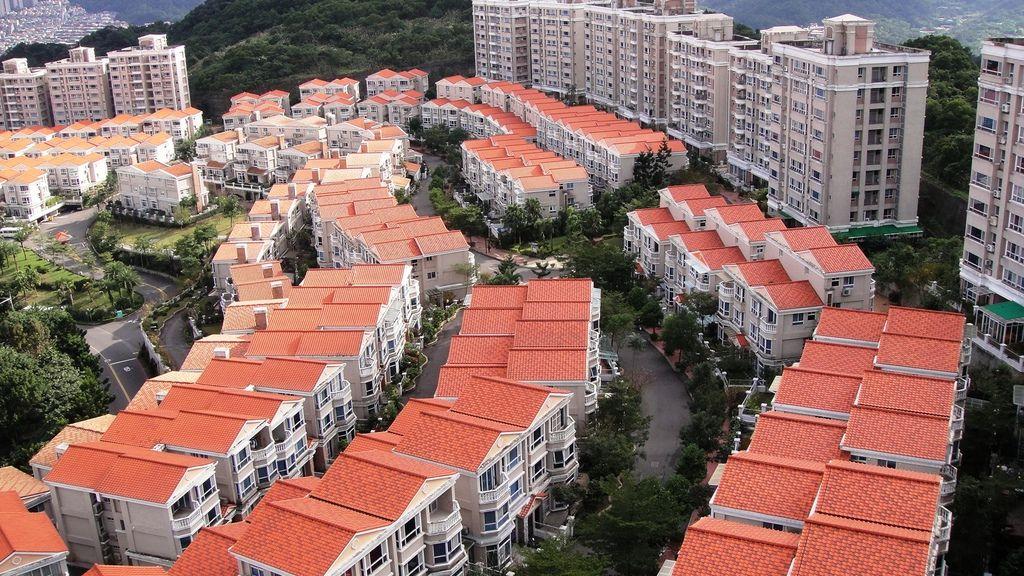 綠中海第一期社區空照圖