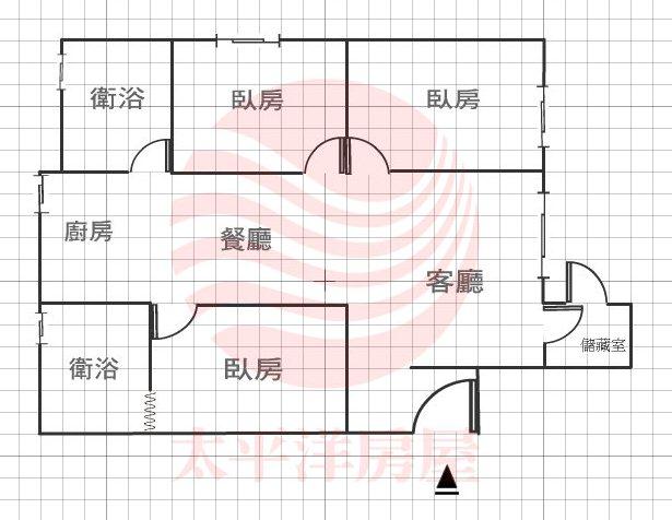 樂華商圈漂亮華廈一樓格局圖