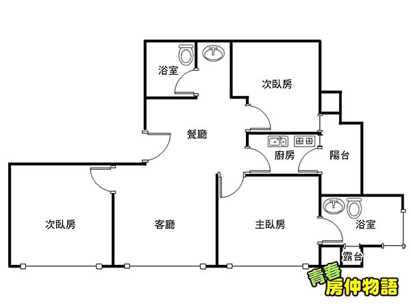 仁愛尚華101景觀宅格局圖.png