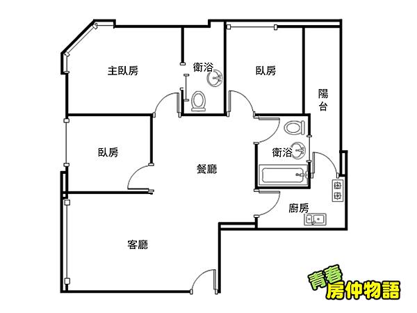 榮耀敦南三房車格局圖.png
