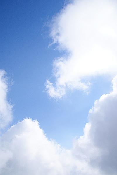 攻頂後出現難得一件的藍天