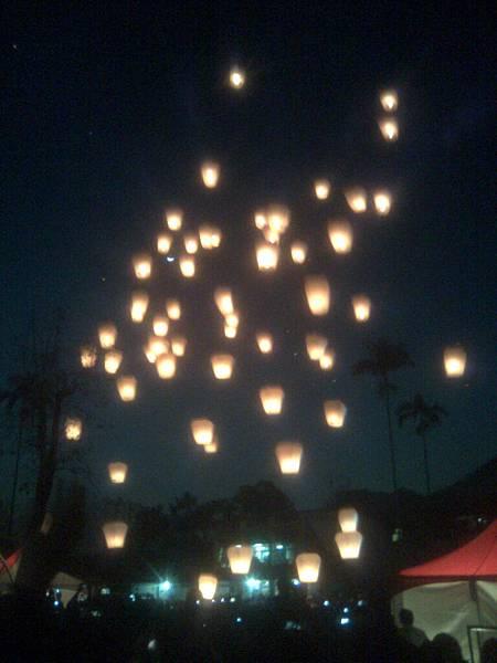 二月,平溪天燈