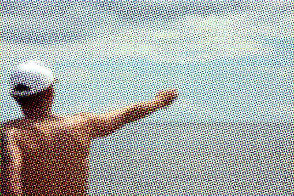 五月,綠島海泳