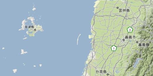 澎湖相對本島位置