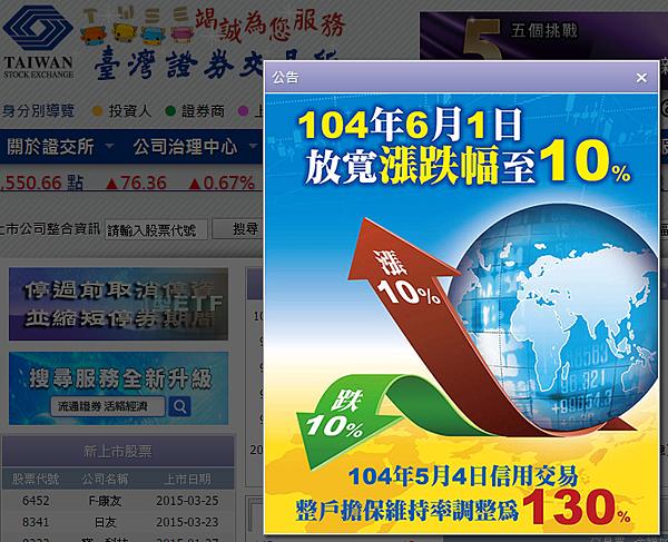 放寬漲跌幅至10%_2015.04.27