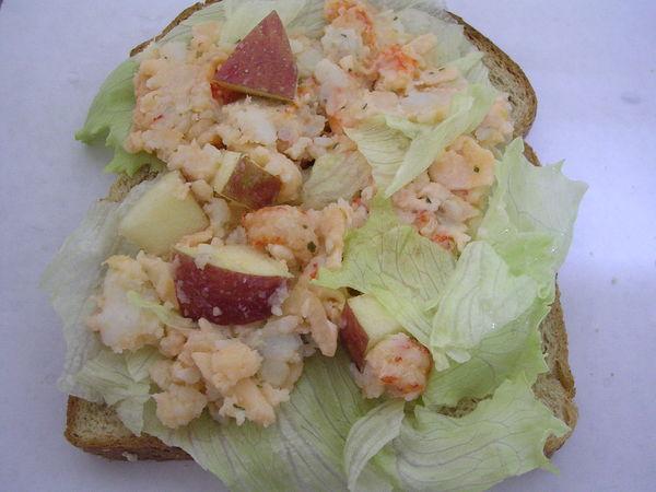 龍蝦沙拉變身版土司