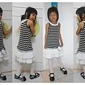 黑白普普低腰蛋糕裙1.jpg