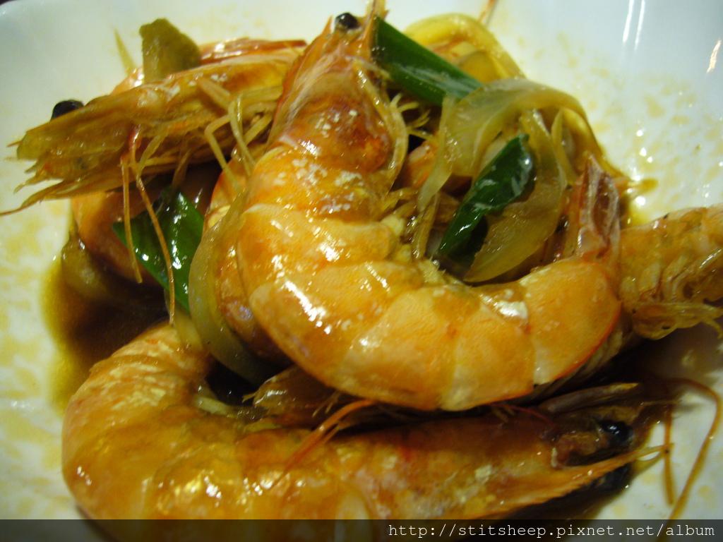 佛手蔥燒蝦