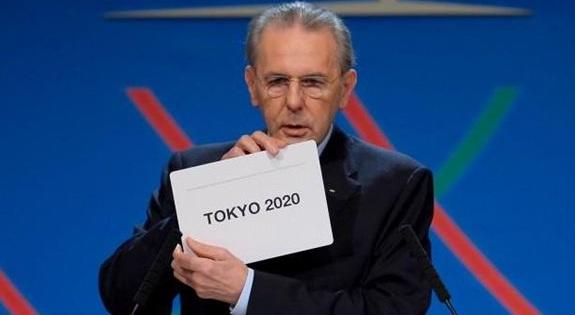 2020日本東京奧運,日本打敗西班牙馬德里市與土耳其伊斯坦堡市,申請奧運主辦權成功,第六次奧運主辦國 (安倍晉三,經濟效益,選手村園區,奧運五色環意義)