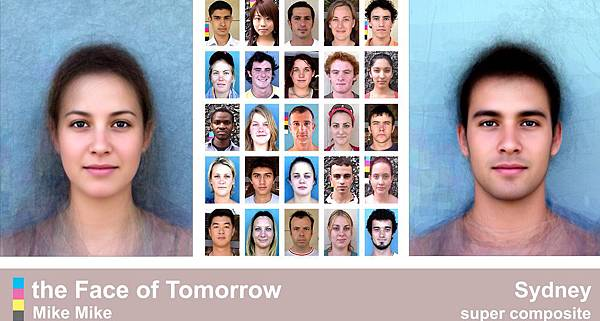 明日之臉,face of tomorrow,計畫: 英國格拉斯哥大學分析各國女性大眾臉容貌 (實驗心理學,人類學家,組合肖像技術,韓國整形美女,人造人,台灣,國家地理雜誌)