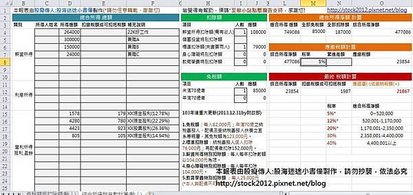 最新2018年,2019年綜合所得稅試算,自動報稅計算Excel表格軟體APP免費下載與教學,稅改民國108年適用2