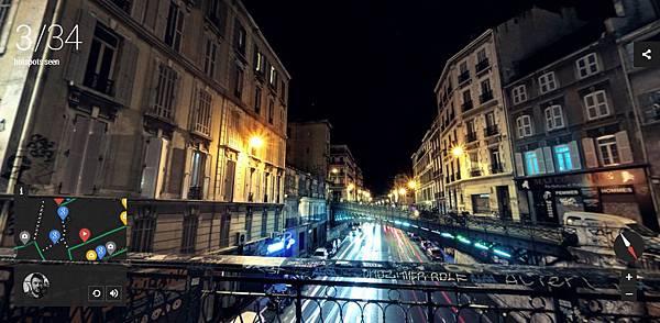[科技.旅遊]Google谷歌Night Walk in Marseille Experience Project,讓你在家中就能逛浪漫之都法國的夜景 (11)