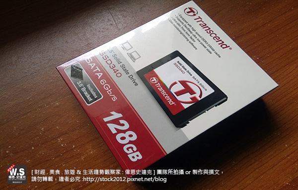 [開箱] 創見SSD340固態硬碟128G,安裝備份教學,評價推薦,圖文實測分析 (3C,Transcend,保固,維修,傳輸線,價格,壽命,2.5吋)