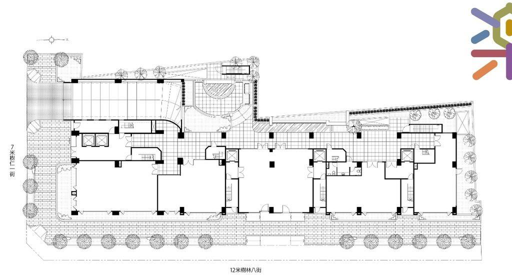 桃園美樂地建案,一樓公設與平面圖
