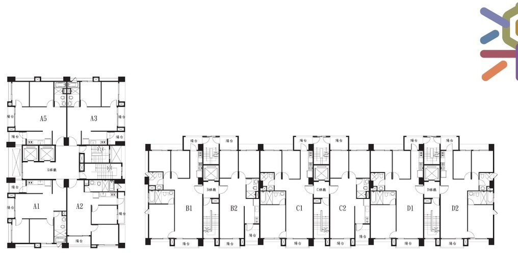 桃園美樂地建案,標準層平面圖