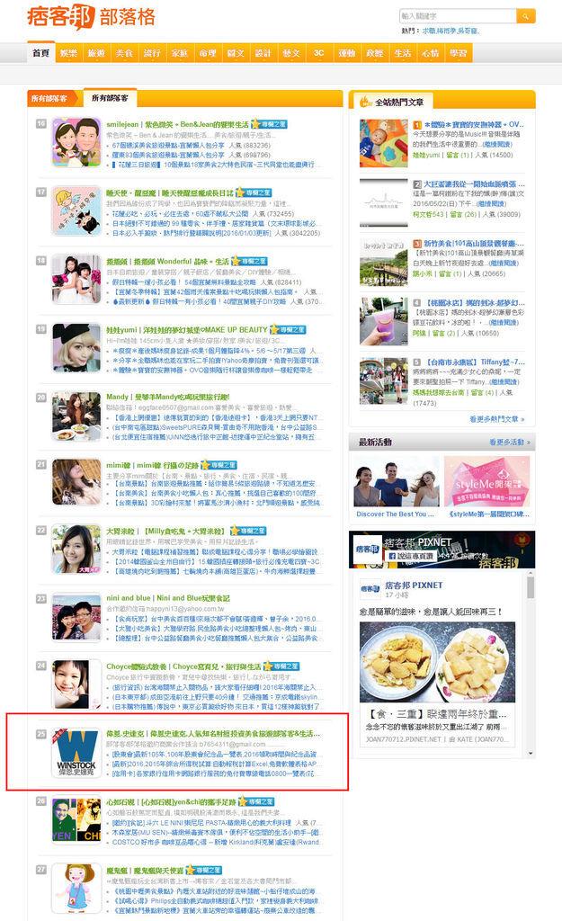 2016.5月_全站最高排名25名
