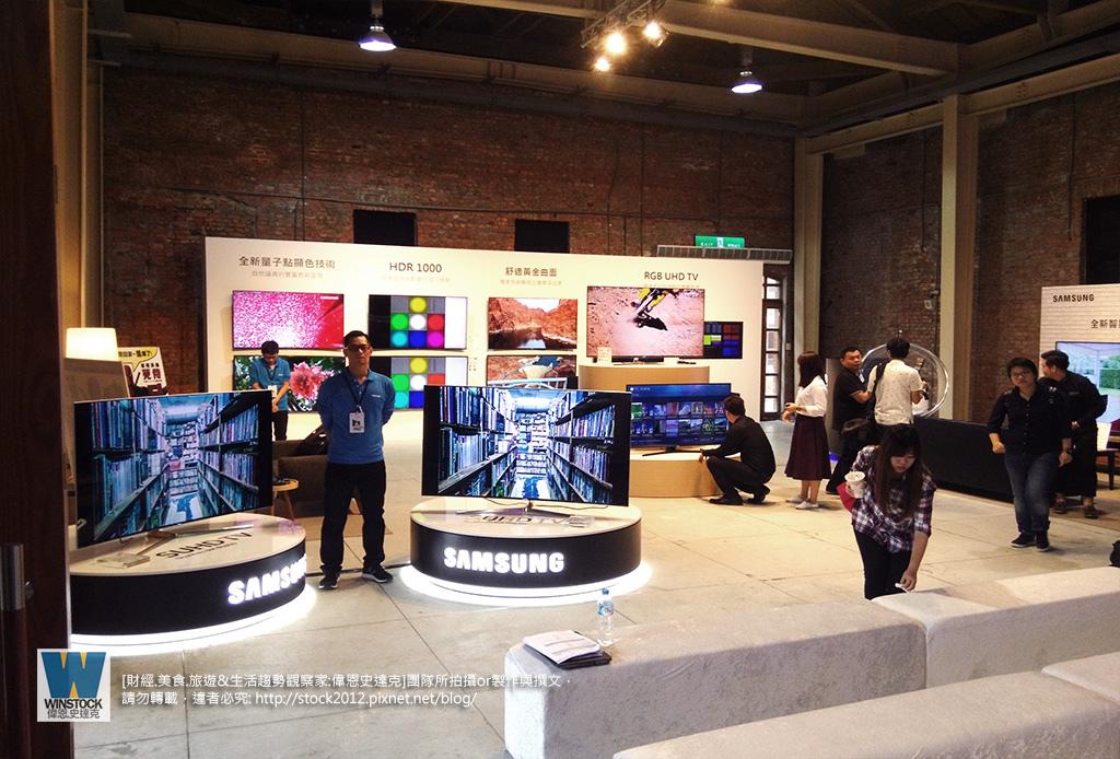三星Samsung,SUHD TV超4K電視體驗會: 2016智慧電視再進化,彎曲曲面螢幕高擬真度,HDR 1000 nits 真實色彩呈現 (ULTRA HD,全新量子點顯色技術,原生黑面板)