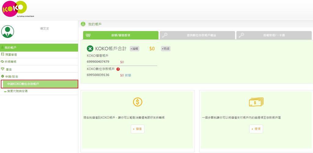 國泰世華KOKO數位帳戶會員註冊7